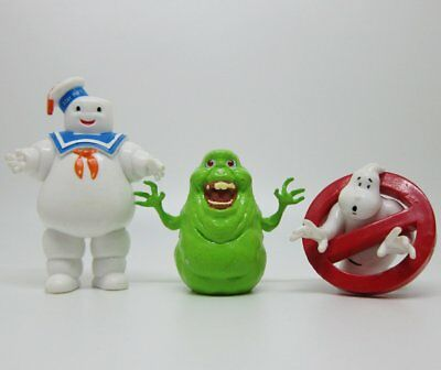 Comansi Ghostbusters Logo Marshmallow Man Slimer Collection Cake Topper Figure