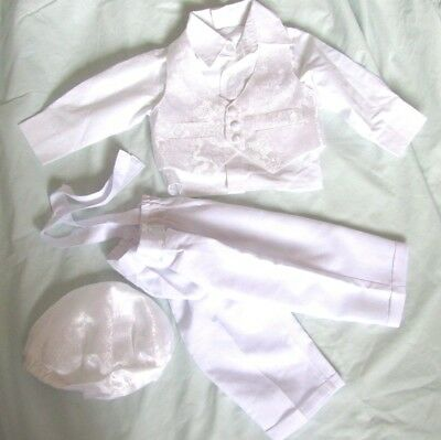 WEDDING SUIT PAGE BOY  FORMAL WHITE SMALL SIZE New