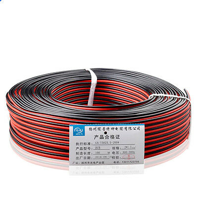 Home Loud Speaker Cable RVB2x0.3/0.5/0.75/1/1.5mm² PVC Wire 2 Core Red Black TS