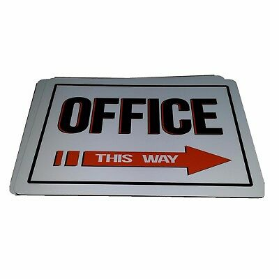 OFFICE ARROW RIGHT THIS WAY TO  OFFICE Aluminium outdoor sign 315mm x 220mm