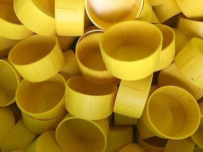 Scaffold Plastic Tube End Caps Yellow Identification 50mm ID Site Safety 100