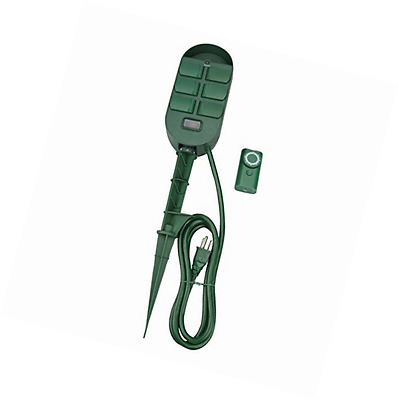 Woods 59785WD 6-Outlet Power Stake with Timer and Remote Control
