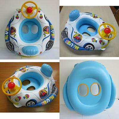 Floating Car Shape Boat  New Cute Baby Inflatable Ring Seat Swimming Pool
