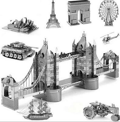 3D Metal Model Puzzle DIY CARS STAR WARS INSTRUMENTS SHIPS ARCHITECTURE Gift UK
