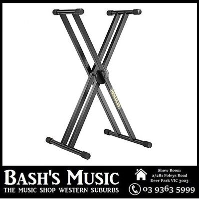 Hercules KS120B Double Braced X Style Keyboard Piano Stand Heavy Duty