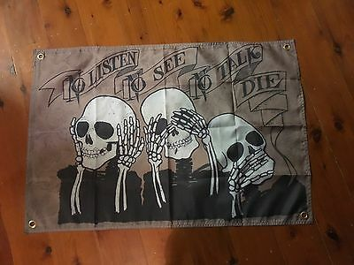 Harley Jack daniels mancave bar flag 3 x 2 ft man cave bar ware pool room biker