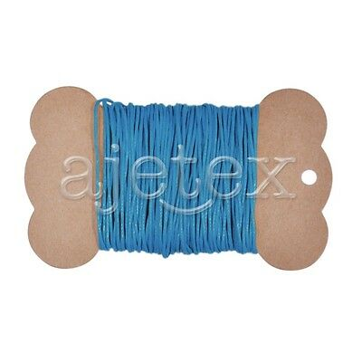 10M 1mm Waxed Cotton Cord Jewellery Thong Thread String Beading Craft Turquoise