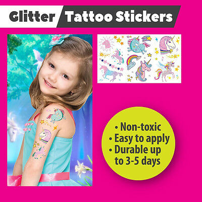 KIds Glitter Temporary Tattoo Stickers by Dzine  - Unicorn