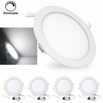 4pcs 9W 12W 15W 18W 24W Dimmable LED Recessed Ceiling Panel Light Lamp Fixture S