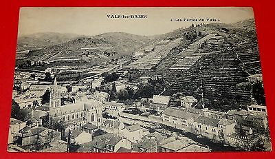 Cpa Carte Postale 1910-1920 Vals Les Bains Panorama Ardeche 07 Thermalisme
