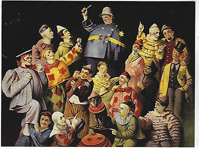 """*Postcard-""""The Meeting Of Clowns""""  -Circus-    ...Classic-"""
