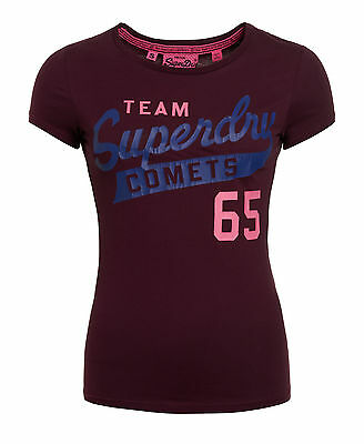 Neues Damen Superdry Team Comets Entry T-Shirt Fig