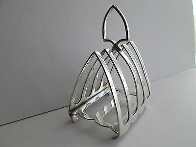 Art Deco Mappin & Webb Silver Plated Toast Rack Mappin & Webbs Princes Plate