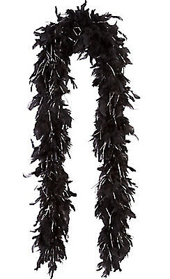 5 X BLACK FEATHER BOA LENGTH 1.5m GIRLS NIGHT OUT FEATHERS BOA HEN STAG PARTY