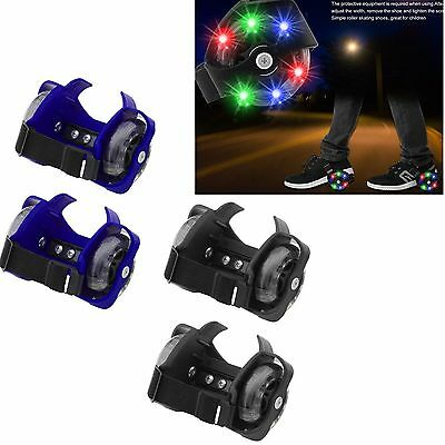 Colorful Flashing Whirlwind Pulley Adjustable Simply Roller Skating Shoes SM