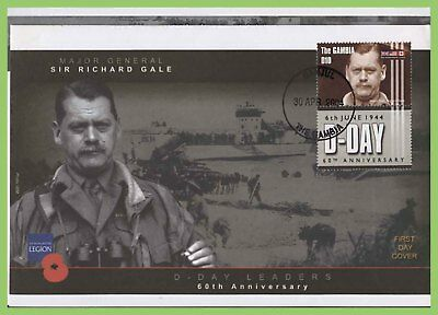 Gambia 2004 Sir Richard Gale, D-Day Anniversary on First Day Cover