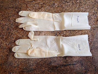 Gants Latex 30Cm Naturel  Neuf Rubber Gloves