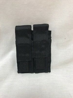 London Bridge LBT-9012B Double Pistol Magazine Pouch MOLLE Black LE Duty