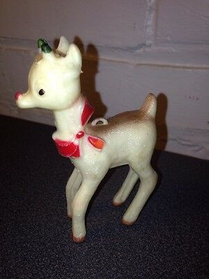 Vintage Rudolph The Reindeer Christmas Ornament Plastic 3.5 Inches Tall