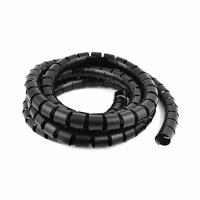 Spiral Tube Cable Wire Wrap Computer Cord Management 30mmx3meter Black