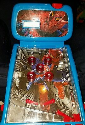 2012 Marvel Spider-Man Battery Powered Arcade Pinball Machine