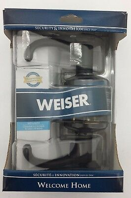 Weiser Bed + Bath Entry Lever: Aspen Style, Iron Black Colour