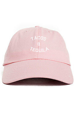 9ea798207 TACOS AND TEQUILA Custom Unstructured Dad Hat Baseball Cap Brand New-Pink