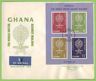 Ghana 1962 Anti Malaria miniature sheet on First Day Cover