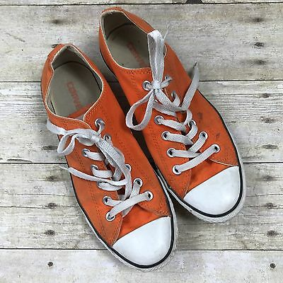 Converse All Star Sneakers Orange Unisex Shoes Low Chuck Taylor Women 8 Men 6