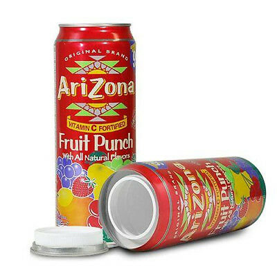 "Arizona Fruit Punch Stash Can  ""DIVERSION HOME SAFE HIDE HERBAL CASH JEWELRY"""
