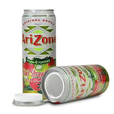 "Arizona Kiwi Strawberry Stash Can ""DIVERSION HOME SAFE HIDE HERBAL CASH JEWELRY"""