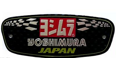 YOSHIMURA JAPAN 3d Motorcycle Exhaust Heat Proof Sticker Decal Aluminium Bike