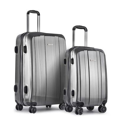 2 Pcs Premium Hard Shell Travel Luggage with TSA Lock