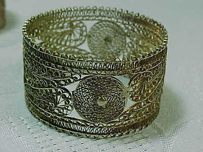 SYRIA  Middle East  ANTIQUE 6 SILVER NAPKIN RINGS Syrian