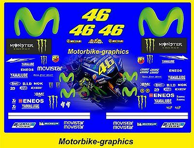 2017 MOVISTAR ROSSI  Moto  GP Full race decals graphics Stickers Kit
