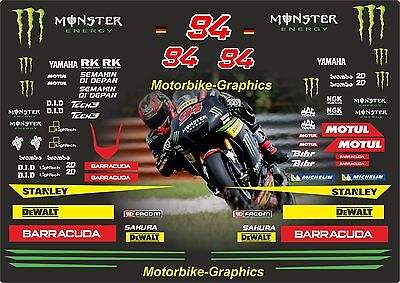 2017  Jonas Folger T-ech 3 Moto GP Full race decals graphics Stickers Kit
