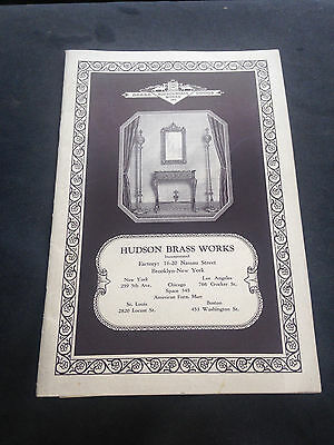 1920's Hudson Brass Works Catalog New York Antique House Furnishings