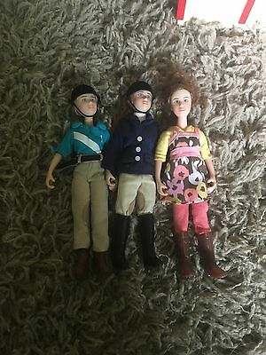 lot of 3 breyer people