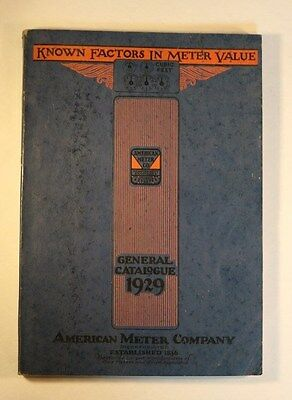 1929 American Meter Company Catalogue, Oil and Gas History Natural Gas