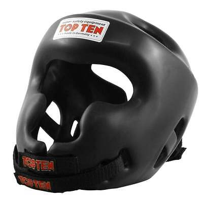 Top Ten Training Protection Headguard with Cheekbone - Black
