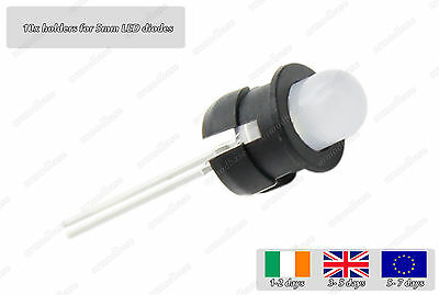10x Plastic Holder Socket For 5mm LED Diode Light Emitting Mount Housing