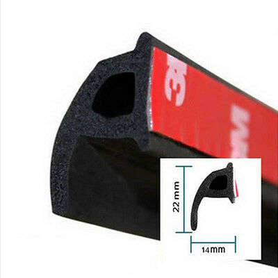P-Type 4M Seal Strips Noise Insulation Anti-dust Weatherstrip Trim for cars door