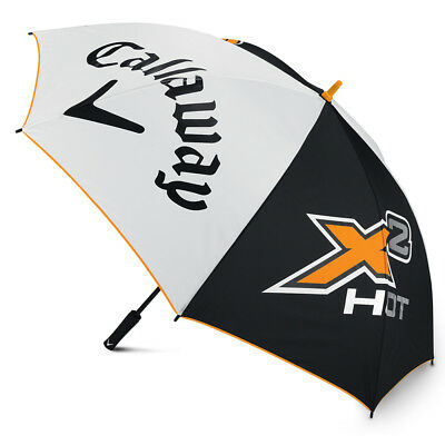 "Callaway X2 Hot Single Canopy Auto Open 64"" Umbrella - White / Black / Orange"