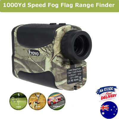 6X 1000Yd Laser Range Finder Golf Sports Meter Speed Measurer Flagpole Camo Fog