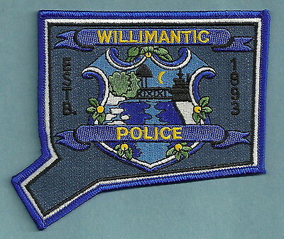 Willimantic Connecticut Police Patch State Shaped!