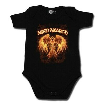 Amon Amarth Burning Eagle Baby One Piece Bodysuit Official Infant Metal Kids