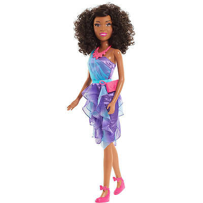 """Barbie Best Friend Fashion Doll Nikki Curly Hair Rooted Eyelashes 28"""" Tall"""
