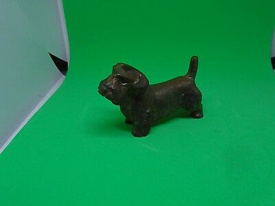 "Antique/Vintage Cast Metal Scottie/Terrier Dog 2 1/2"" Long"