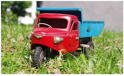 tin toy marusan giant truck three wheeled vehicle made in Japan vintage 492