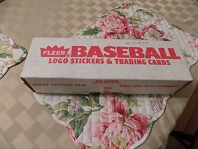 Fleer Baseball Complete 1989 FACTORY SEALED Set Logo Stickers Trading Cards and